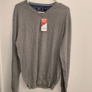 IZOD NWT grey lightweight long sleeve pullover